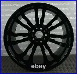 Genuine BMW 3 / 4 series 19 403M Sport Alloy Wheels Viper Black & Diamond Cut 4
