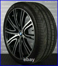 Genuine BMW 5 Series 20 Alloy Wheels G30 G31 OE Black Diamond Cut With Tyres