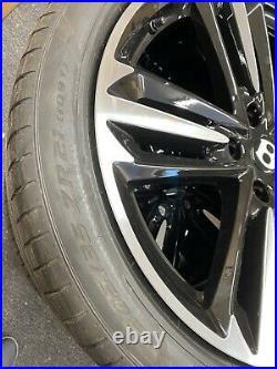 Genuine Bentley GT GTC 21 Alloy Wheels & Pirelli Tyres Gloss Black Diamond Cut