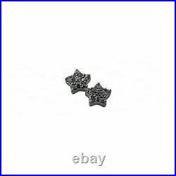 Genuine Black Gold Black Diamond Star Studs Fine Jewelry Earrings