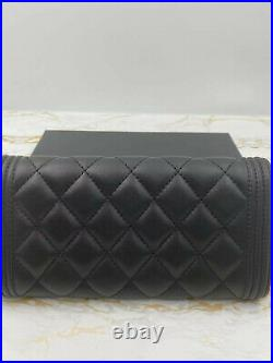 Genuine Chanel Black Diamond Invisible Buckle Wallet with Packing Box Dust Bag