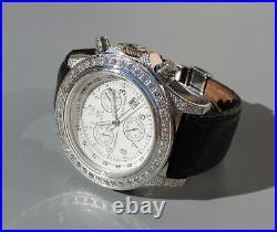 Genuine Diamond Swiss 2.25 Carat Diamond Watch Paperwork/appraisal Techno Mania