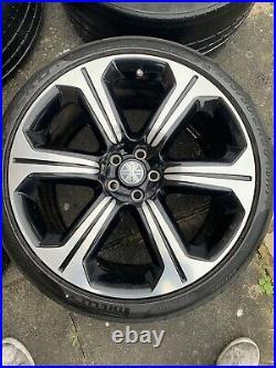 Genuine Jaguar XF-RS Wheels X250 Varuna Black Polished Diamond Cut 20 Inch