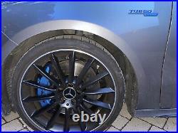 Genuine Mercedes-Benz AMG 19 Turbine Alloys Satin Black With Diamond Cut Ring