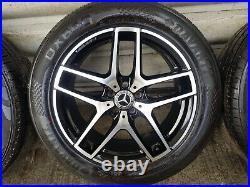 Genuine Mercedes GLC 19 AMG Line Alloy Wheels Tyres Diamond Cut Black SUV