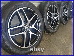 Genuine Mercedes GLC 19 AMG Line Alloy Wheels & Tyres GLA GLB Diamond Cut Black