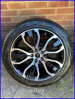 Genuine Range Rover Sport L494 21 Inch 5007 Black/diamond Cut Alloy Wheel X 4