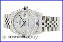 Genuine Rolex Mens Datejust Watch 18K White Gold and Steel Watch + Rolex Band