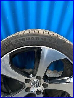 Genuine Vw Golf Mk7 Gti 4x 18 Austin Black Diamond Cut Alloy Wheels 5g0601025as