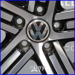 Genuine Vw Golf R Cadiz Mk7 Mk6 18 Inch Black/diamond Cut Single Alloy Wheel X1