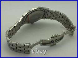 Gucci Men's Genuine 11 Diamonds Black Dial Stainless Steel Bracelet Watch 5500XL