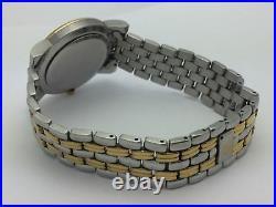 Gucci Unisex Genuine Two-Tone 47 Diamonds Gold Dial Date 4300M Watch