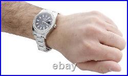 Mens 41mm 116300 Rolex DateJust II Real Diamond Watch Black Stick Dial 2.75 CT