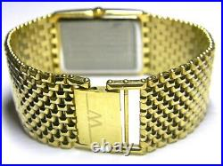 Mens Longines Wittnauer Cosmopolitan 48 real diamond Gold Plated Rectangle watch