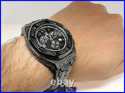 Mens New Aqua Master Jojo Joe Rodeo Real Black Diamond Watch 226 8.5 Ct Swiss