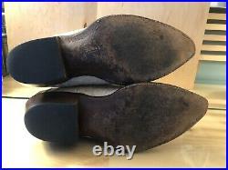 Mens Off White Crocodile Cowboy Boots Black Diamond USA Genuine Leather With Belt