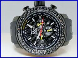 Mens Techno Com KC Joe Rodeo Master Genuine Black Diamond Watch 3.75 Ct