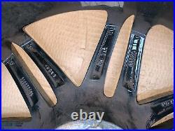 Mercedes 18 Alloys GENUINE Diamond cut gloss black with valves