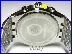 NWT Mens Longines Wittnauer Laureate 40 Real Diamond Chronograph watch WN3078