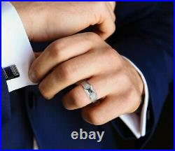 Natural Genuine 1/2 Carat Black Diamond Men's Cocktail Engagement Ring Size 12