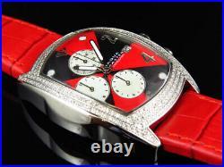 New Aqua Master Joe Rodeo Red Black W 42 Bubble Genuine Diamond Watch 2.5 Ct