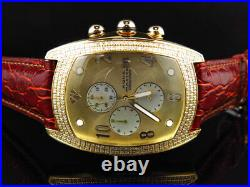 New Aqua Master Joe Rodeo Yellow Gold W 42 Bubble Genuine Diamond Watch 2.5 Ct