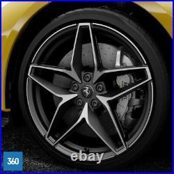 New Genuine Ferrari 488 Pista Spider 20 Matt Matt Black Diamond Alloys Wheels