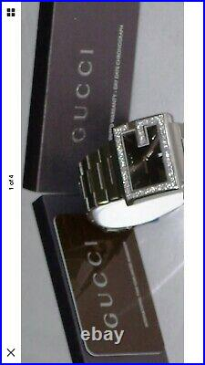 New Men's Gucci black dial 1.92ct. Aprx. Custom set real Diamond Watch YA100305