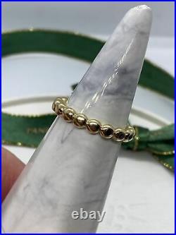 Pandora 14k Gold 5 Diamond Bubble Ring Size 54 150144 Black Diamond Genuine Rare
