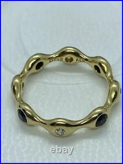 Pandora Lovepods Diamond Black Spinel Ring 18k 8pod 970120MX6 Genuine Sz55 Rare