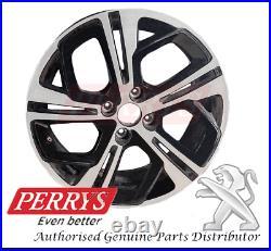 Peugeot 208 Diamond Black Onyx 17'' Alloy Wheel 98015324xy Genuine Oe