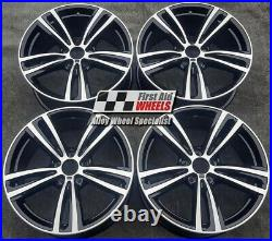 R345DCB Swap BMW 3 / 4 SERIES 4x 19 GENUINE 442M BLACK DIAMOND CUT ALLOY WHEELS