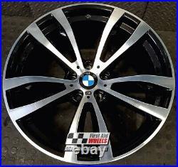 R448DCB Swap BMW X5 X6 4X 20 GENUINE STYLE 469M BLACK DIAMOND CUT ALLOY WHEELS