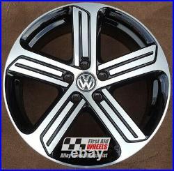 R564DCB Swap VW GOLF R MK7 4X 18 GENUINE CADIZ BLACK DIAMOND CUT ALLOY WHEELS