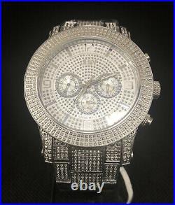 RARE $1,635 LYNX J6336E Chronograph Real Dial Diamond Men's Watch Clean