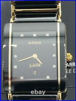 Rado Integral Jubile, Gents, Mens, 11 Real Diamonds, Date, Swiss