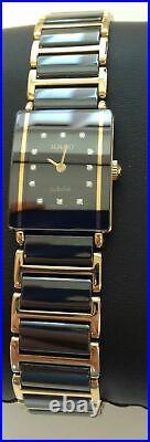 Rado Jubile ceramic two-colour bracelet 12x diamond watch RARE GENUINE