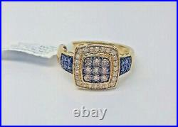 Real 10K Yellow Gold Brown & Black Diamond Ladies Women Ring Anniversary/Casual