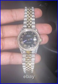 Real Vs Diamond Rolex DateJust 36mm 18k Jubilee two tone Not working Easy Fix