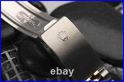 Rolex 31mm Datejust Black 8+2 Diamond Dial Ladies Genuine 18k & SS Watch