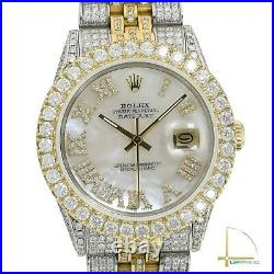 Rolex Datejust Two-Tone Fully Loaded High Quality Real Diamond Approx 13.1ctw