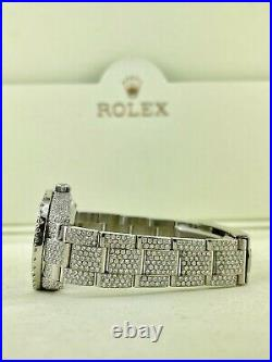 Rolex Oyster Perpetual Ladies 31mm Watch ICED with10ct Genuine Diamonds Ref 177200