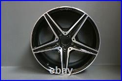 Set 4 Mercedes C Class W204 W205 18 Amg Alloy Wheel Rims Black Diamond Genuine