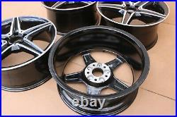 Set Of 4 Genuine Oem Mercedes C Class W205 18 Alloy Wheel Rims Black Diamond Cu