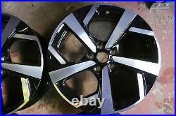 Set Of 4 Genuine Oem Nissan Qashqai J11 19 Tekna Alloy Wheel Rims Black Diamond