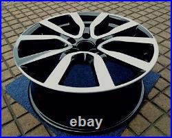 VW GOLF mk6 1x 18 GENUINE SERRON BLACK DIAMOND CUT REFURBED ALLOY WHEEL S836