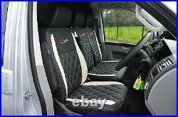 Volkswagen VW Transporter T6 Genuine Fit Van Seat Covers Black / Ivory Diamonds